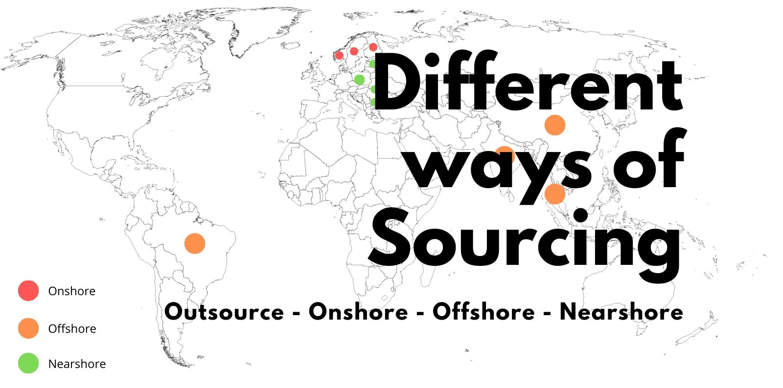 Different ways of outsourcing outsource offshore nearshore onshore cover photo